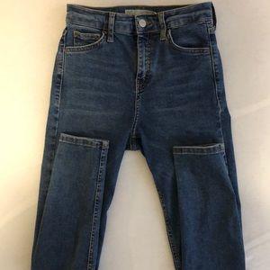 Super skinny Topshop Moto Jamie jeans.